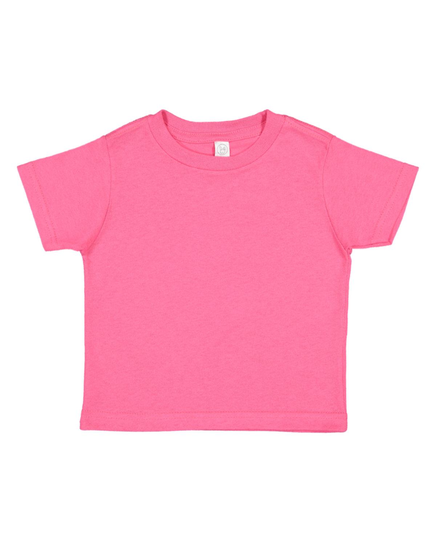 Rabbit Skins Toddler Fine Jersey T-Shirt HOT PINK