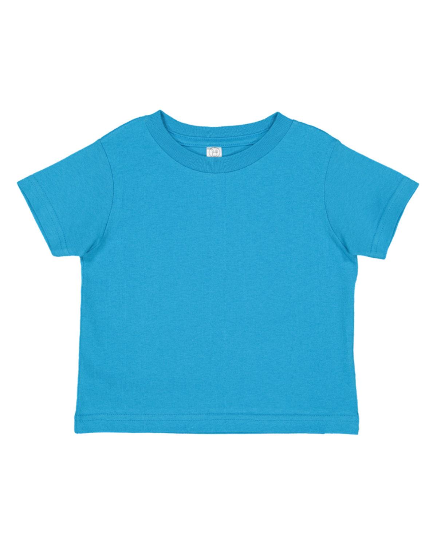 Rabbit Skins Toddler Fine Jersey T-Shirt TURQUOISE