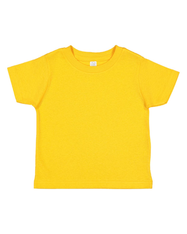 Rabbit Skins Toddler Fine Jersey T-Shirt GOLD