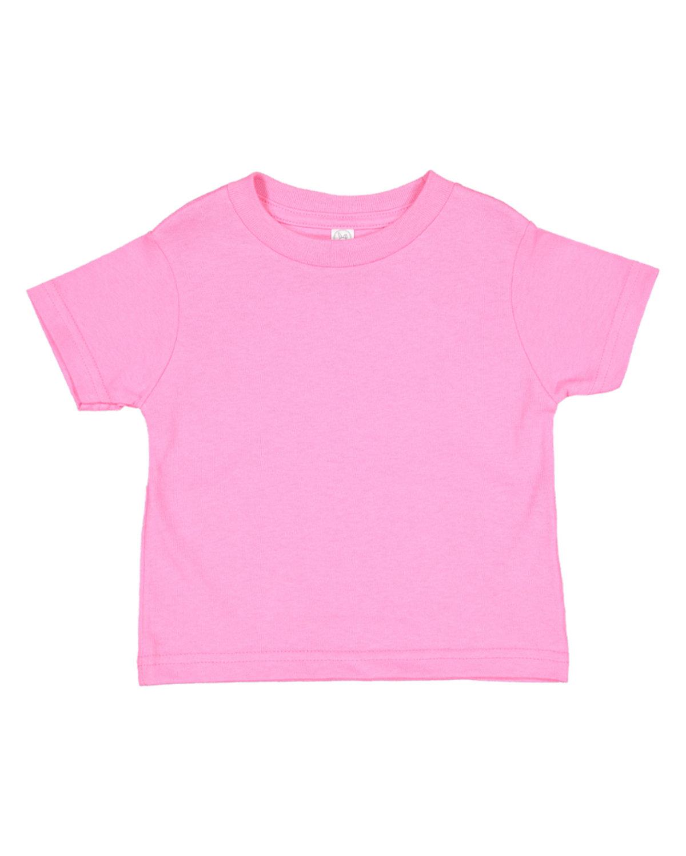 Rabbit Skins Toddler Fine Jersey T-Shirt RASPBERRY