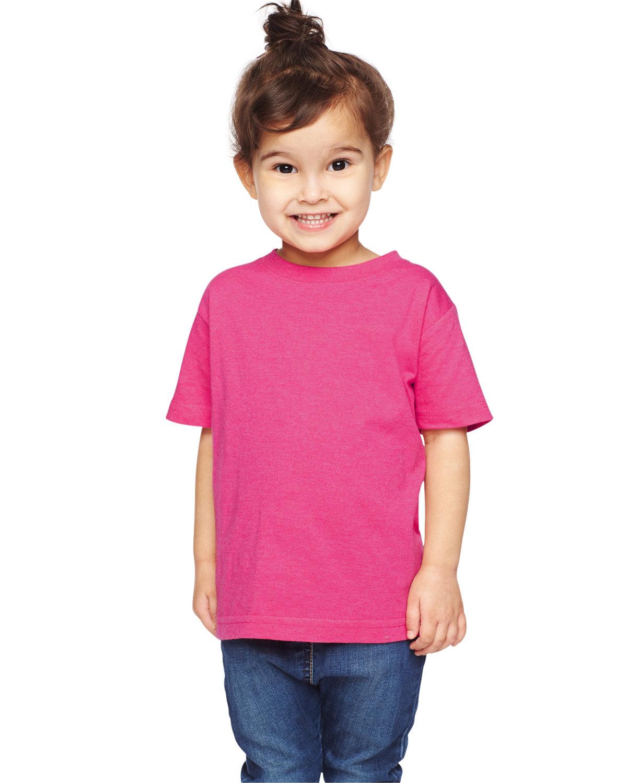 Rabbit Skins Toddler Fine Jersey T-Shirt VINTAGE HOT PINK