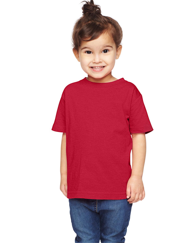 Rabbit Skins Toddler Fine Jersey T-Shirt VINTAGE RED