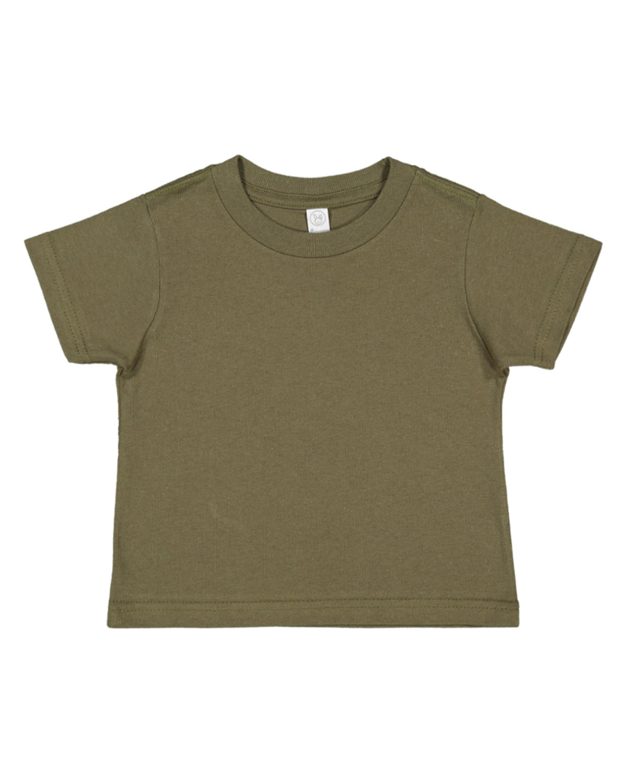 Rabbit Skins Toddler Fine Jersey T-Shirt MILITARY GREEN