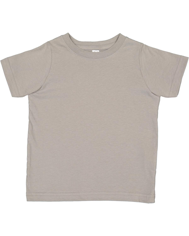 Rabbit Skins Toddler Fine Jersey T-Shirt TITANIUM