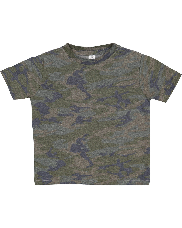 Rabbit Skins Toddler Fine Jersey T-Shirt VINTAGE CAMO