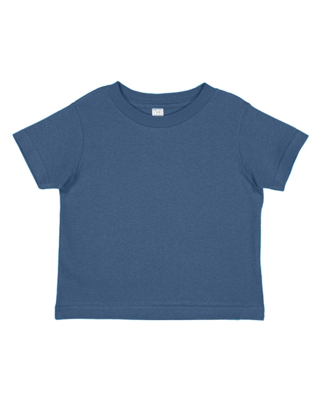 Rabbit Skins Toddler Fine Jersey T-Shirt VINTAGE INDIGO