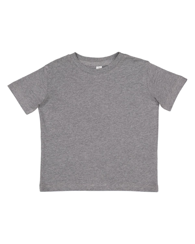 Rabbit Skins Toddler Fine Jersey T-Shirt GRANITE HEATHER