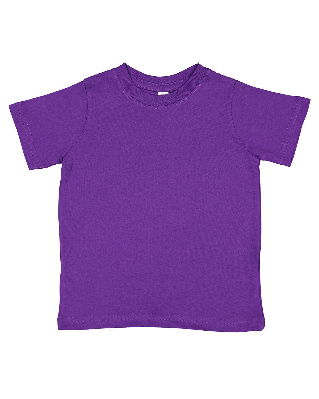 Rabbit Skins Toddler Fine Jersey T-Shirt PRO PURPLE