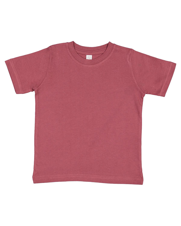 Rabbit Skins Toddler Fine Jersey T-Shirt ROUGE