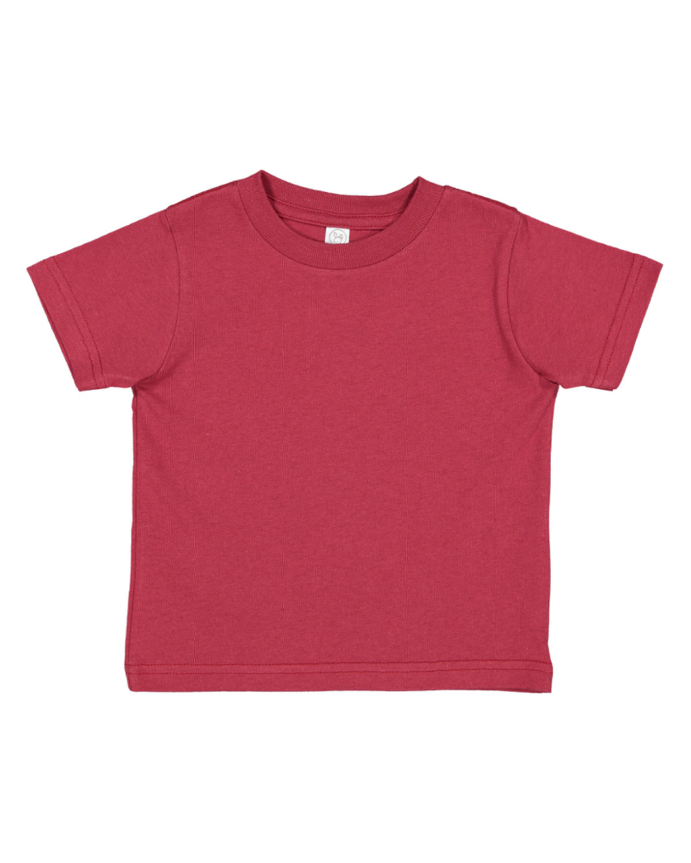 Rabbit Skins Infant Fine Jersey T-Shirt GARNET