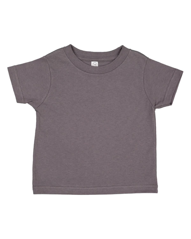 Rabbit Skins Infant Fine Jersey T-Shirt CHARCOAL