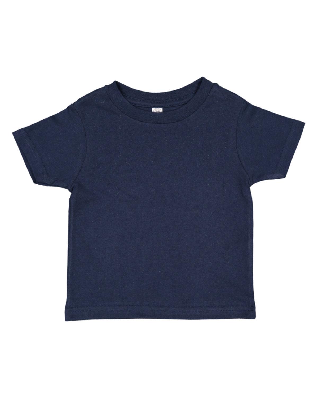 Rabbit Skins Infant Fine Jersey T-Shirt NAVY