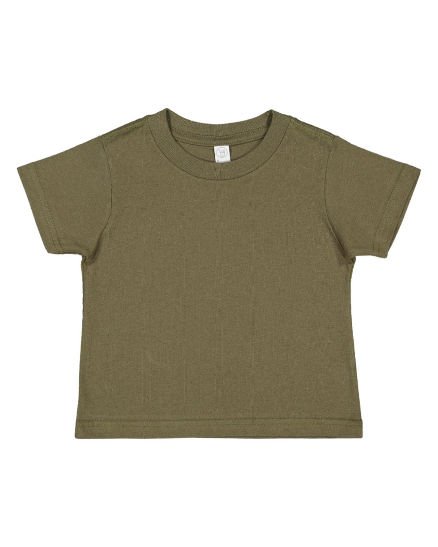 Rabbit Skins Infant Fine Jersey T-Shirt MILITARY GREEN