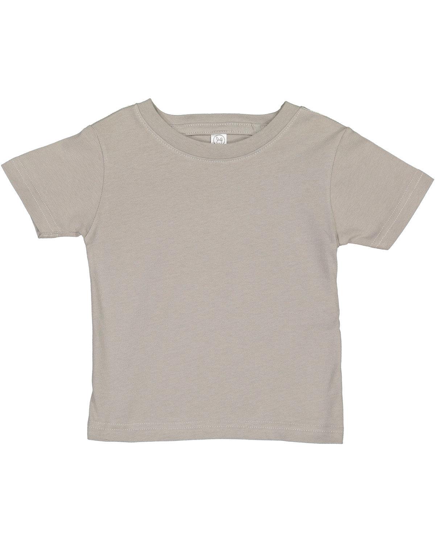 Rabbit Skins Infant Fine Jersey T-Shirt TITANIUM