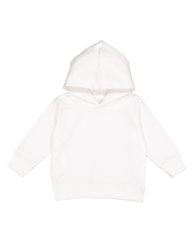 Rabbit Skins Toddler Pullover Fleece Hoodie WHITE