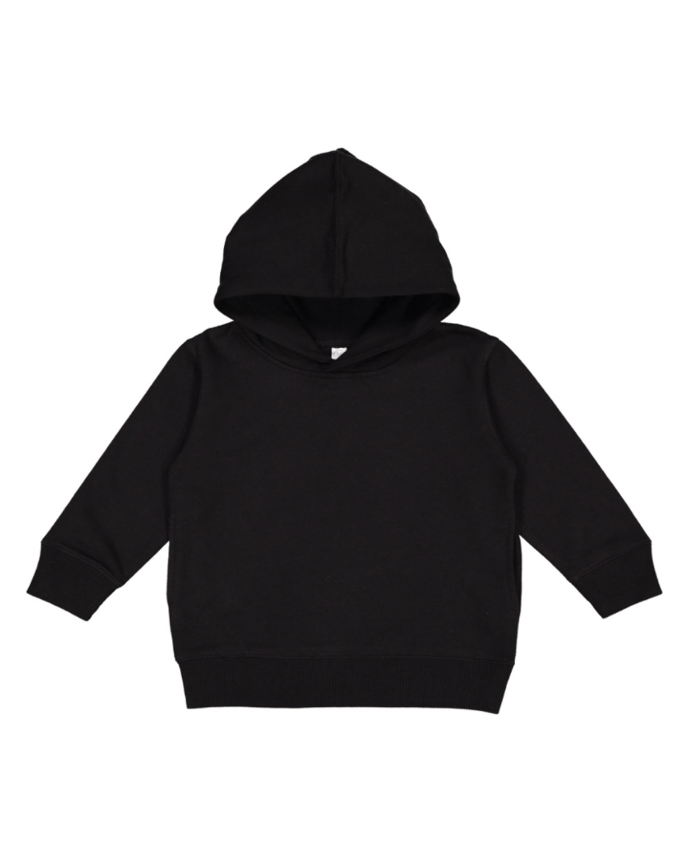 Rabbit Skins Toddler Pullover Fleece Hoodie BLACK