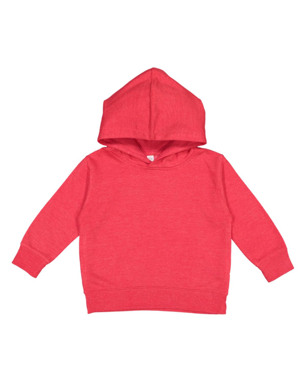 Rabbit Skins Toddler Pullover Fleece Hoodie VINTAGE RED