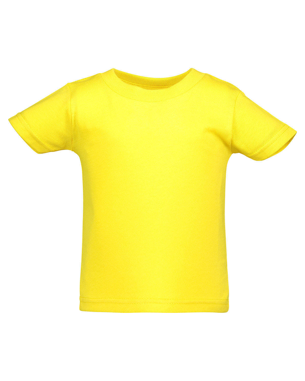 Rabbit Skins Infant Cotton Jersey T-Shirt YELLOW