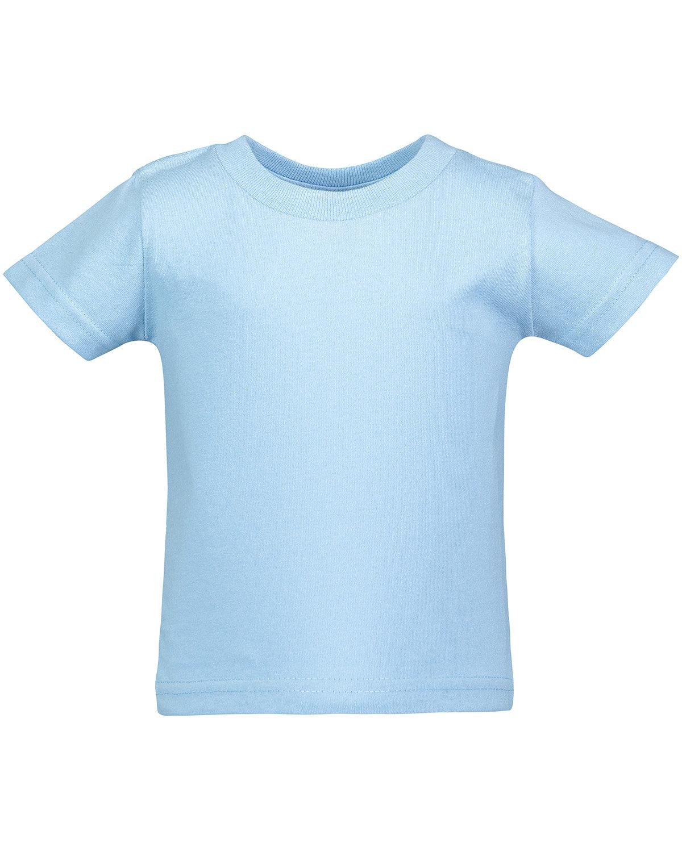 Rabbit Skins Infant Cotton Jersey T-Shirt LIGHT BLUE