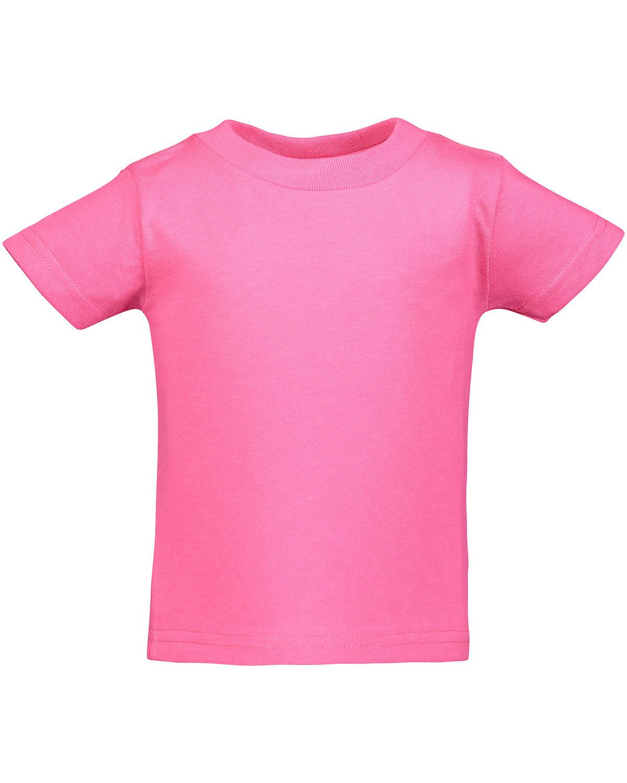 Rabbit Skins Infant Cotton Jersey T-Shirt HOT PINK