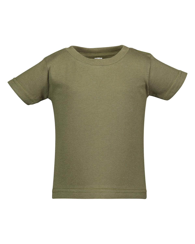 Rabbit Skins Infant Cotton Jersey T-Shirt MILITARY GREEN