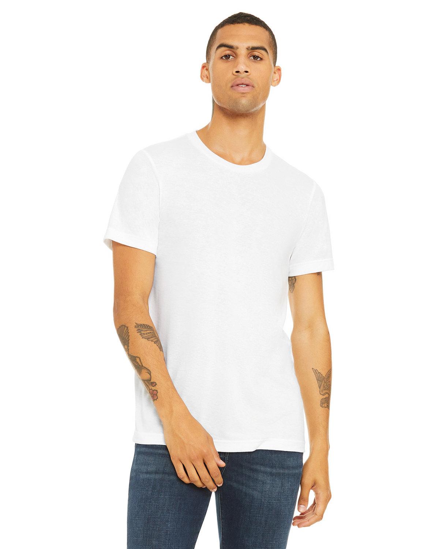 Bella + Canvas Unisex Triblend T-Shirt SOLID WHT TRBLND