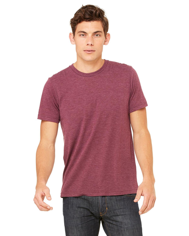 Bella + Canvas Unisex Triblend T-Shirt MAROON TRIBLEND