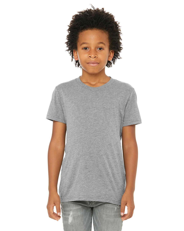 Bella + Canvas Youth Triblend Short-Sleeve T-Shirt GREY TRIBLEND