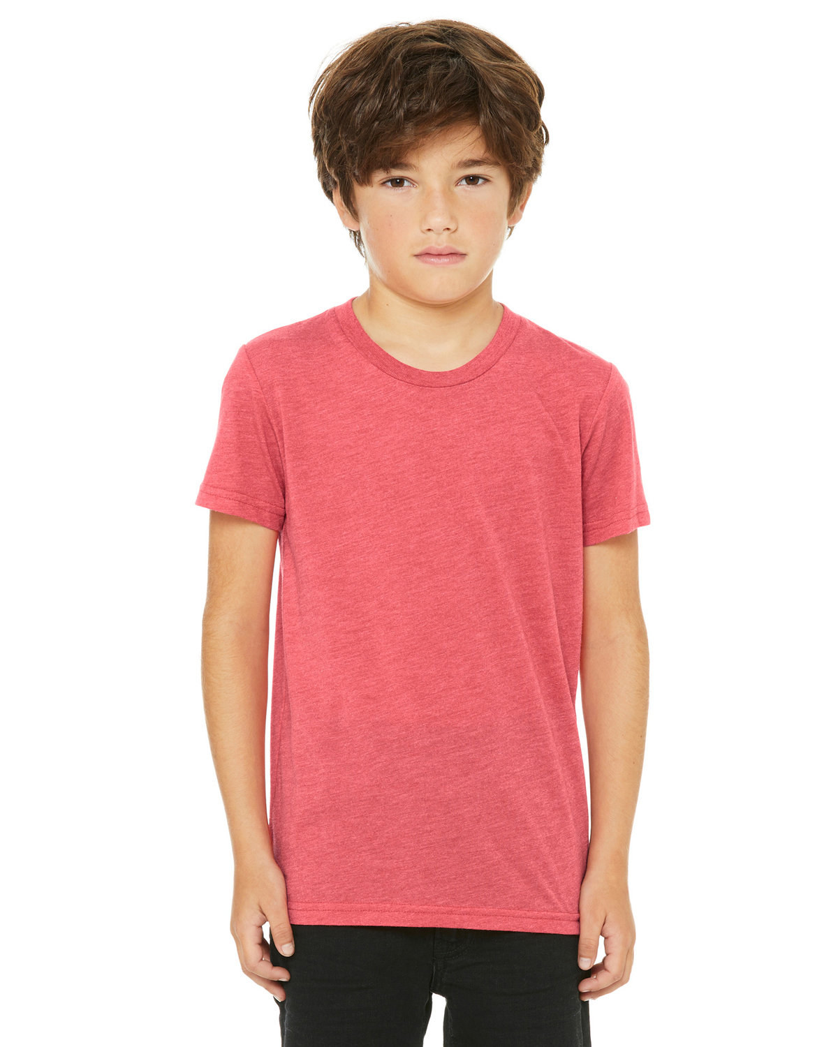Bella + Canvas Youth Triblend Short-Sleeve T-Shirt RED TRIBLEND