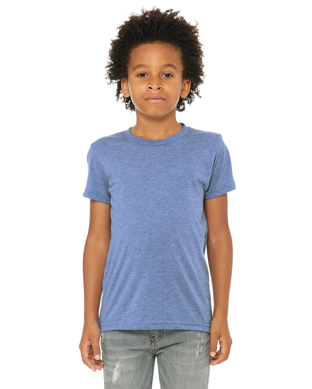 Bella + Canvas Youth Triblend Short-Sleeve T-Shirt BLUE TRIBLEND