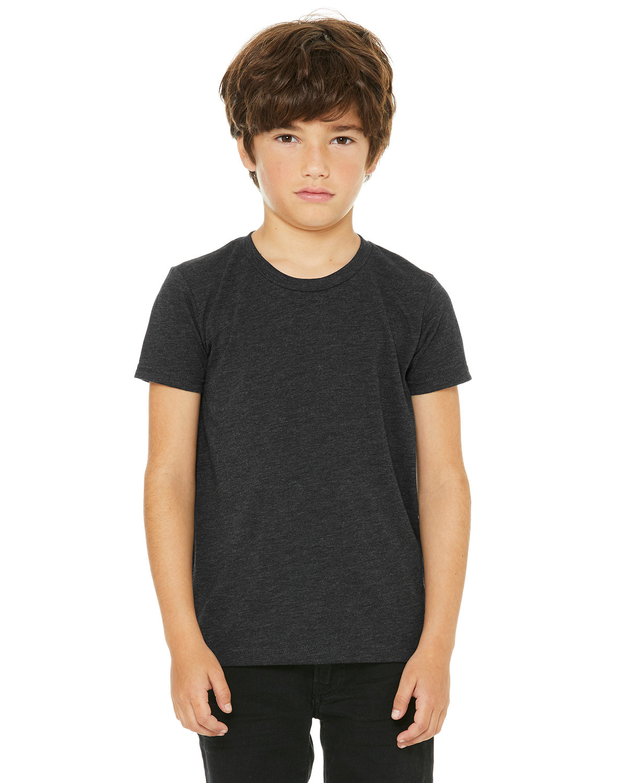 Bella + Canvas Youth Triblend Short-Sleeve T-Shirt CHAR BLK TRIBLND