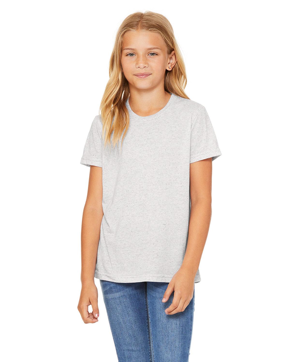 Bella + Canvas Youth Triblend Short-Sleeve T-Shirt WHITE FLK TRBLND