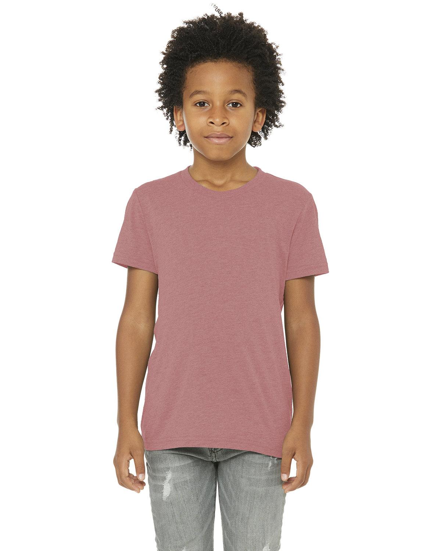 Bella + Canvas Youth Triblend Short-Sleeve T-Shirt MAUVE TRIBLEND