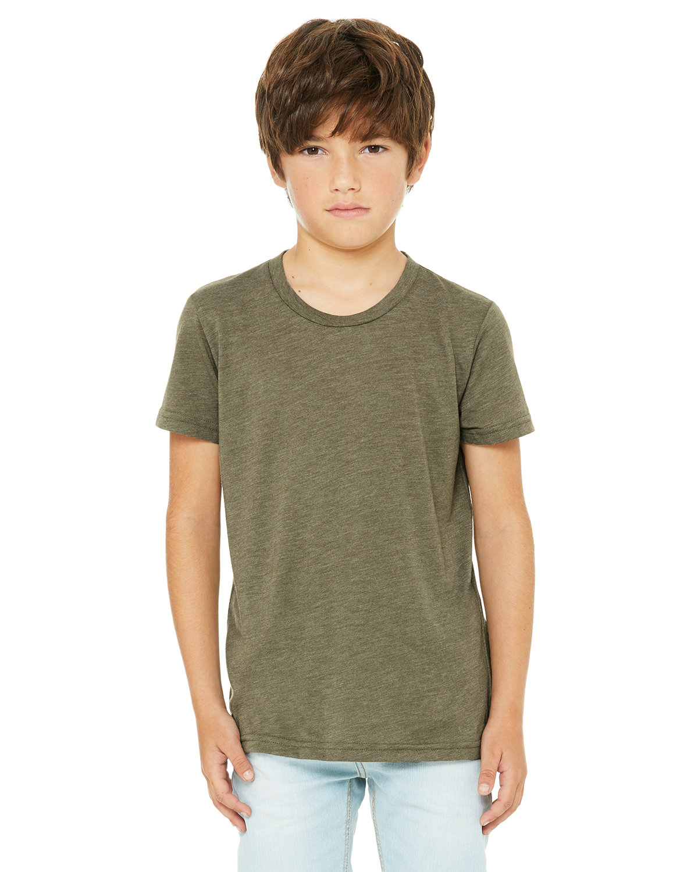 Bella + Canvas Youth Triblend Short-Sleeve T-Shirt OLIVE TRIBLEND