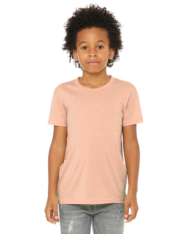Bella + Canvas Youth Triblend Short-Sleeve T-Shirt PEACH TRIBLEND