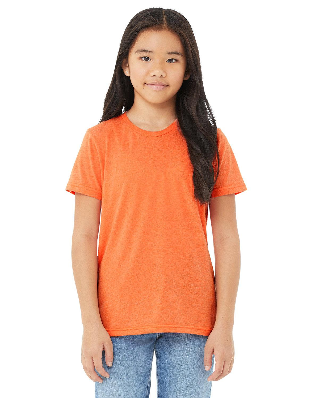 Bella + Canvas Youth Triblend Short-Sleeve T-Shirt ORANGE TRIBLEND