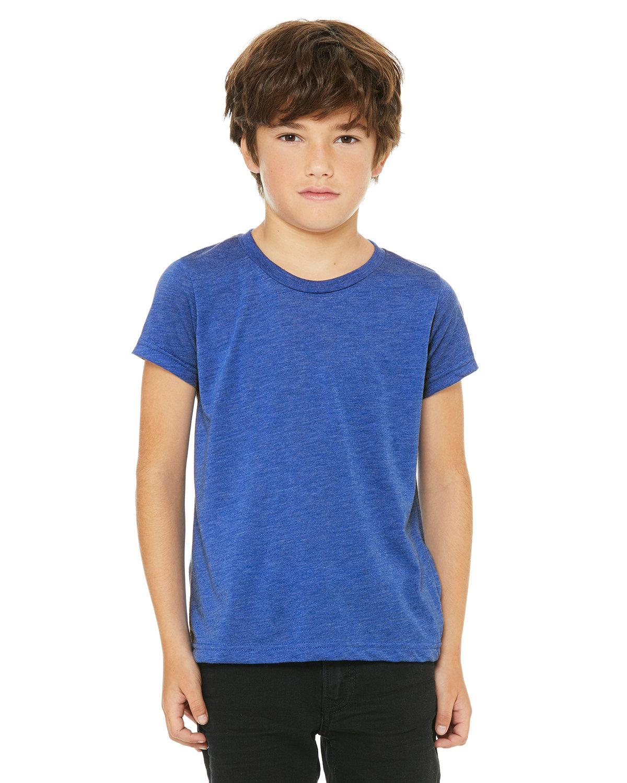 Bella + Canvas Youth Triblend Short-Sleeve T-Shirt TRU ROYAL TRBLND