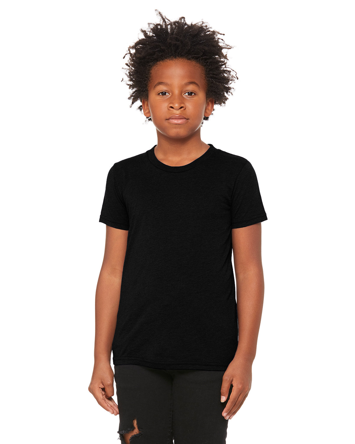 Bella + Canvas Youth Triblend Short-Sleeve T-Shirt SOLID BLK TRBLND