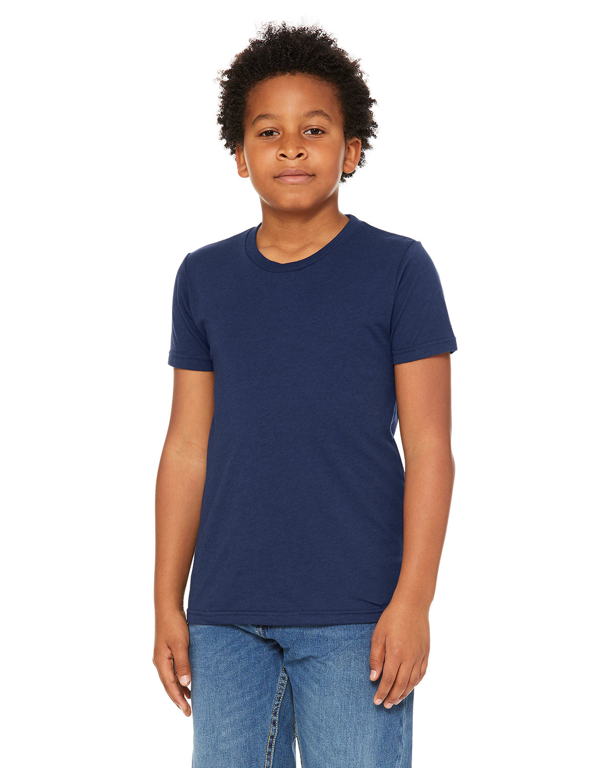 Bella + Canvas Youth Triblend Short-Sleeve T-Shirt SOLID NVY TRBLND