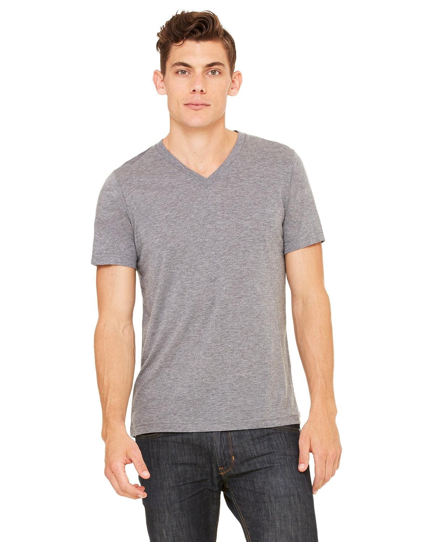 Bella + Canvas Unisex Triblend V-Neck T-Shirt GREY TRIBLEND