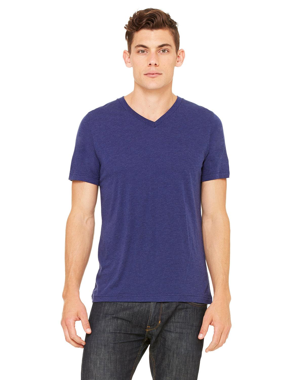 Bella + Canvas Unisex Triblend V-Neck T-Shirt NAVY TRIBLEND