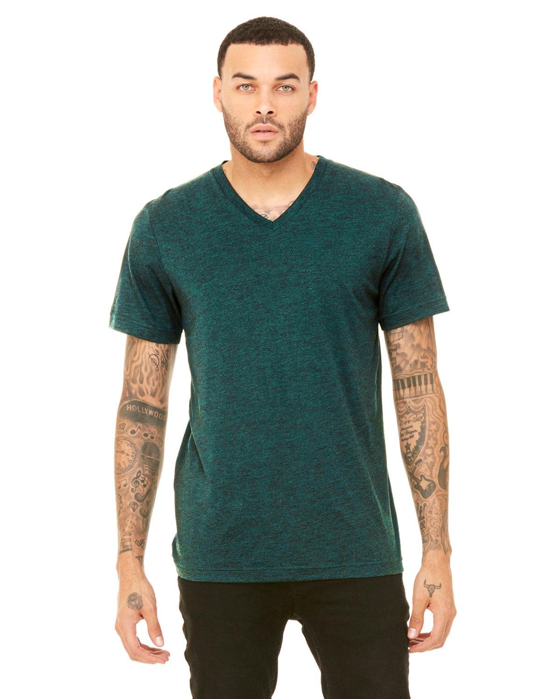Bella + Canvas Unisex Triblend V-Neck T-Shirt EMERALD TRIBLEND
