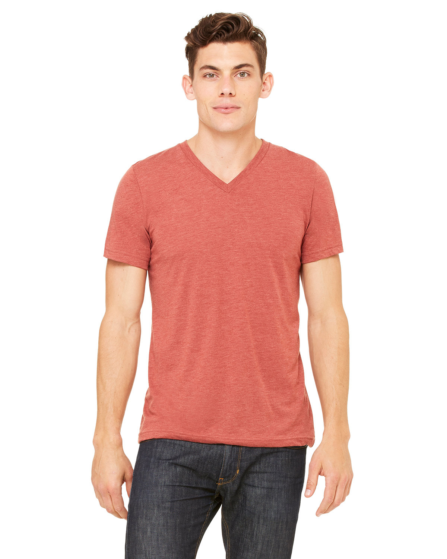Bella + Canvas Unisex Triblend V-Neck T-Shirt CLAY TRIBLEND