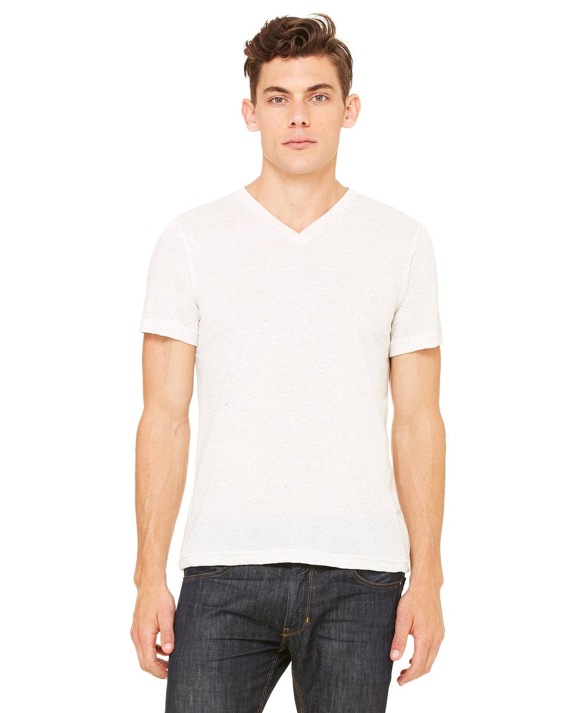 Bella + Canvas Unisex Triblend V-Neck T-Shirt OATMEAL TRIBLEND
