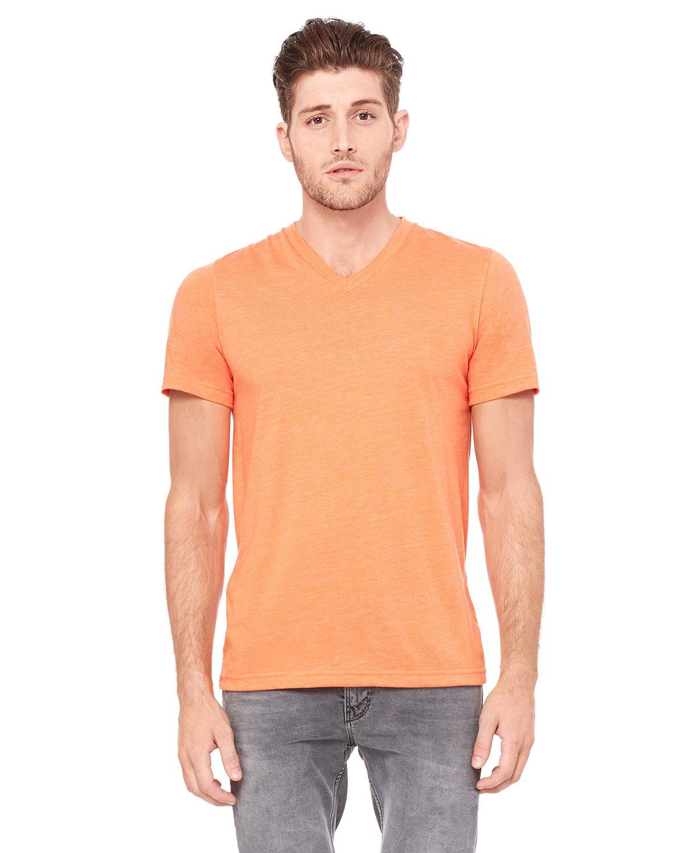 Bella + Canvas Unisex Triblend V-Neck T-Shirt ORANGE TRIBLEND