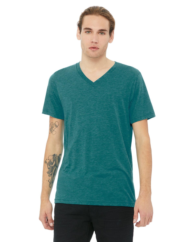 Bella + Canvas Unisex Triblend V-Neck T-Shirt TEAL TRIBLEND