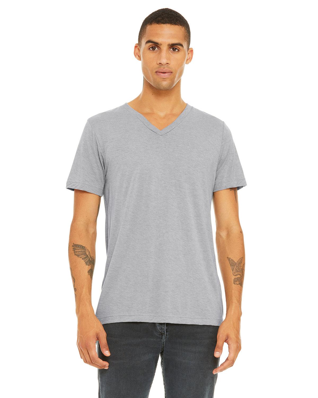 Bella + Canvas Unisex Triblend V-Neck T-Shirt ATH GREY TRBLN