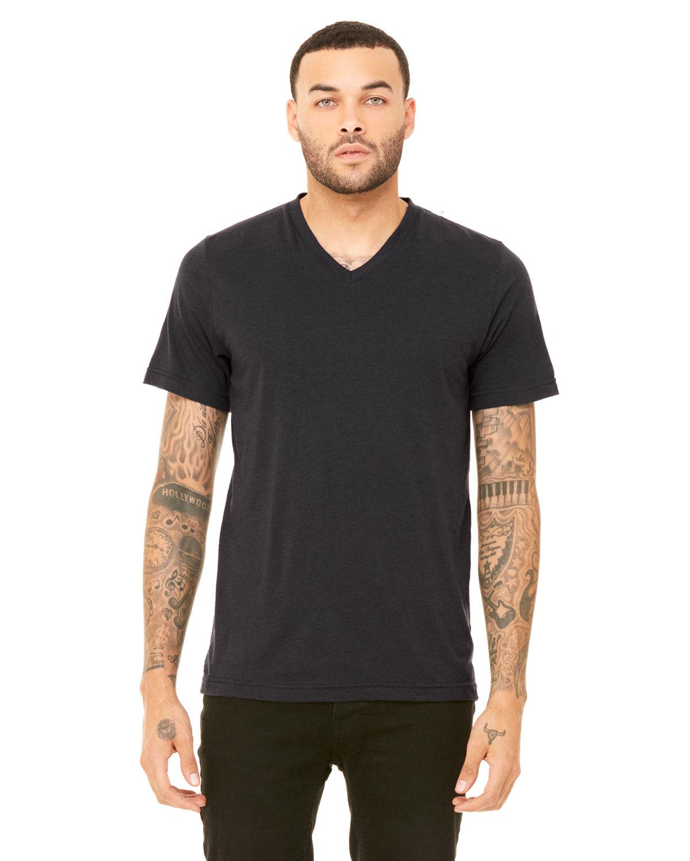 Bella + Canvas Unisex Triblend V-Neck T-Shirt SLD DK GRY TRBLN
