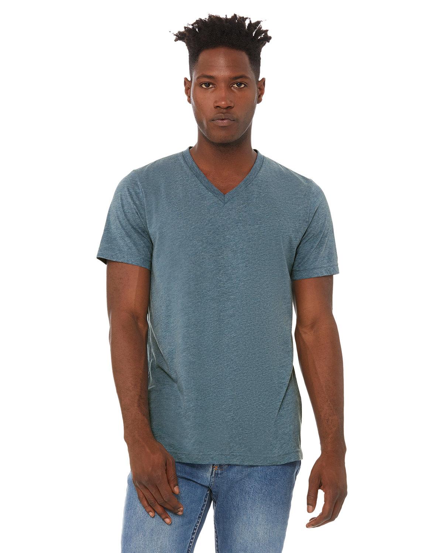 Bella + Canvas Unisex Triblend V-Neck T-Shirt DENIM TRIBLEND