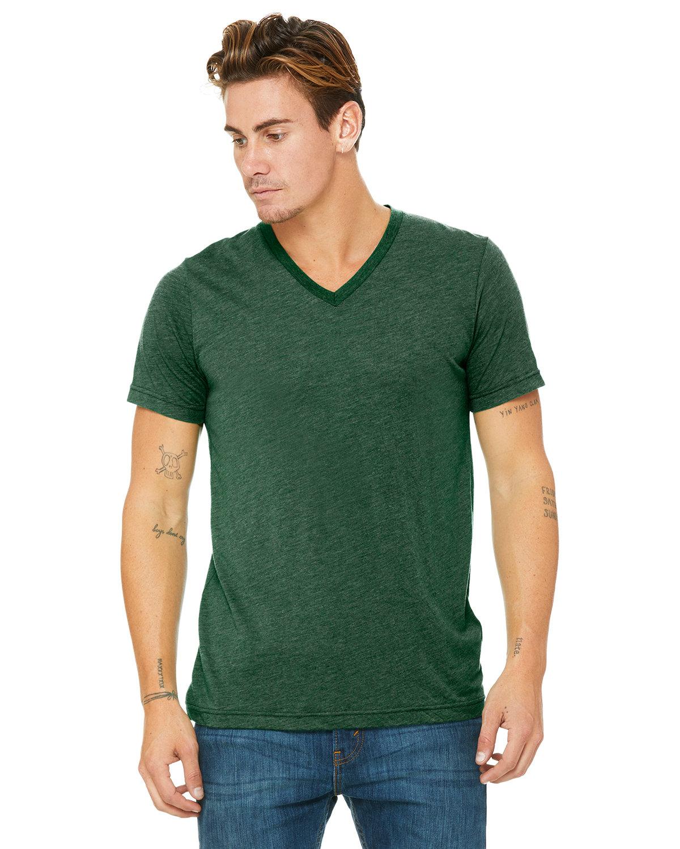 Bella + Canvas Unisex Triblend V-Neck T-Shirt GRASS GRN TRBLND